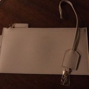 NEW Authentic Saint Laurent Pouch with bag chain